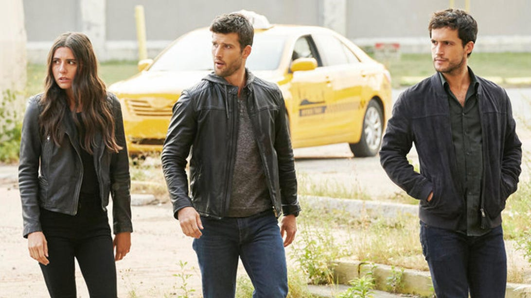 Marianne Rendón, Parker Young and Rob Heaps, Imposters