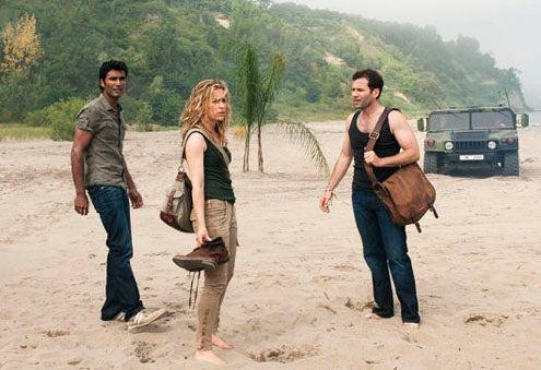 "Covert Affairs - Season 1 - ""When the Levee Breaks"" -  Sendhil Ramamurthy as Jai Wilcox, Piper Perabo as Annie Walker and Eion Bailey as Ben Mercer"