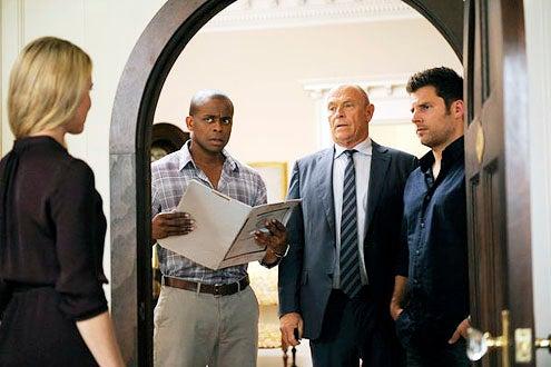 "Psych - Season 6 - ""Santabarbara Town"" - Dule Hill, Corbin Bernsen and James Roday"