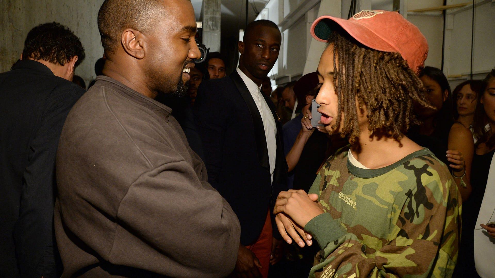 Kanye West and Jaden Smith