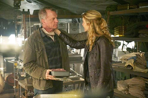 "Revolution - Season 2 - ""Captain Trips"" - Stephen Collins and Elizabeth Mitchell"
