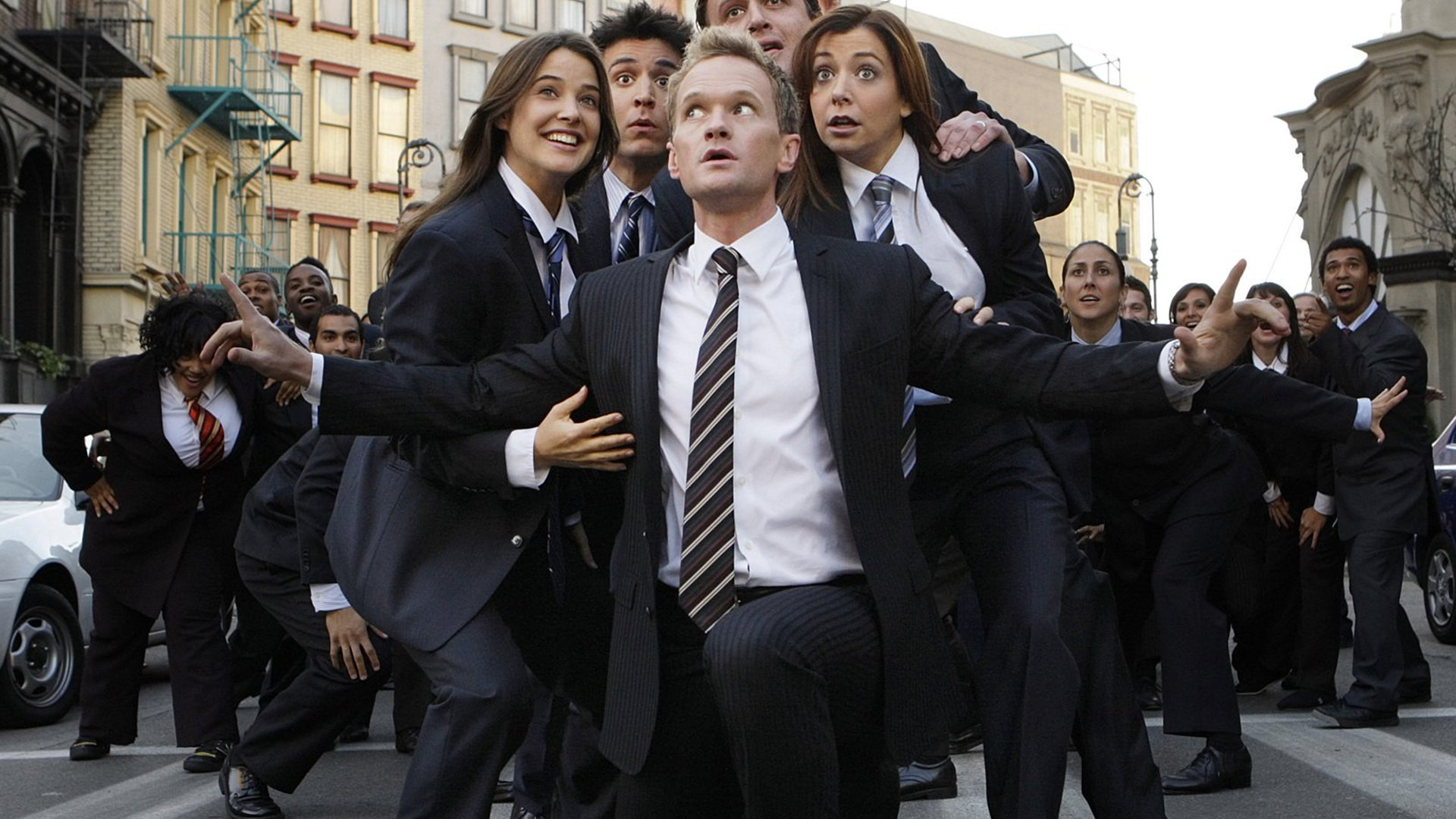 Cobie Smulders, Josh Radnor, Jason Segel, Alyson Hannigan and Neil Patrick Harris, How I Met Your Mother