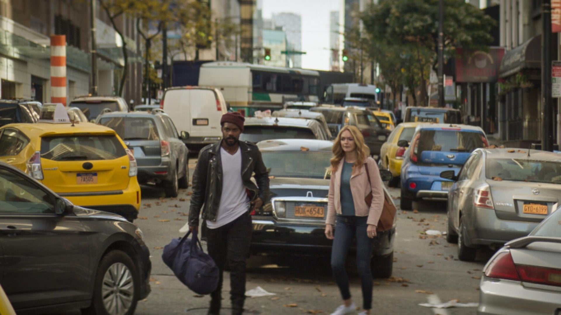 Jovan Adepo and Heather Graham, The Stand