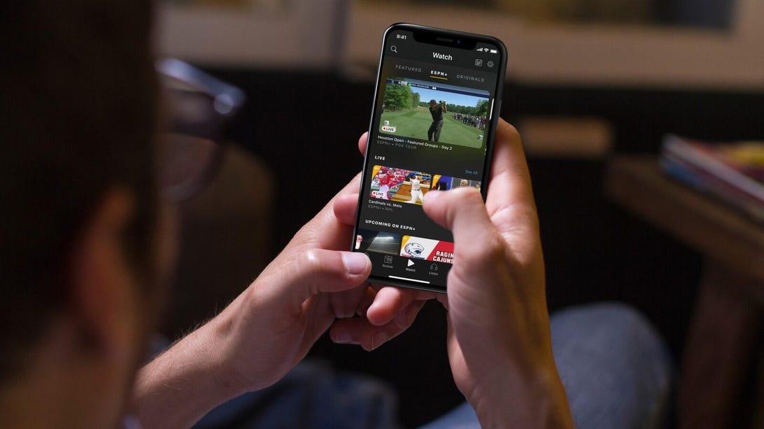 ESPN Plus iPhone Live Golf