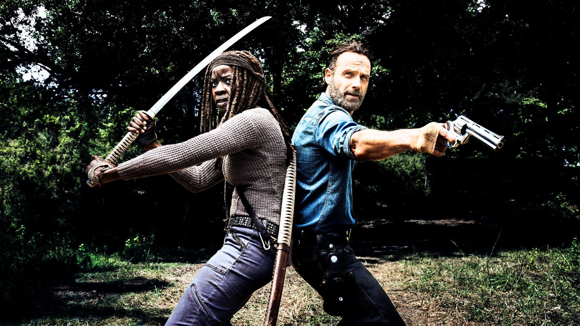 Danai Gurira and Andrew Lincoln, The Walking Dead