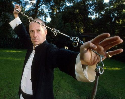 David Carradine - at his home in Los Angeles, November 12, 1985