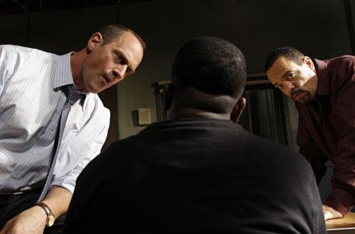 "Law & Order: SVU - Season 10, ""Wildlife"" - Chris Meloni as Det. Elliot Stabler, Ice-T as Det. Odafin 'Fin' Tutuola"
