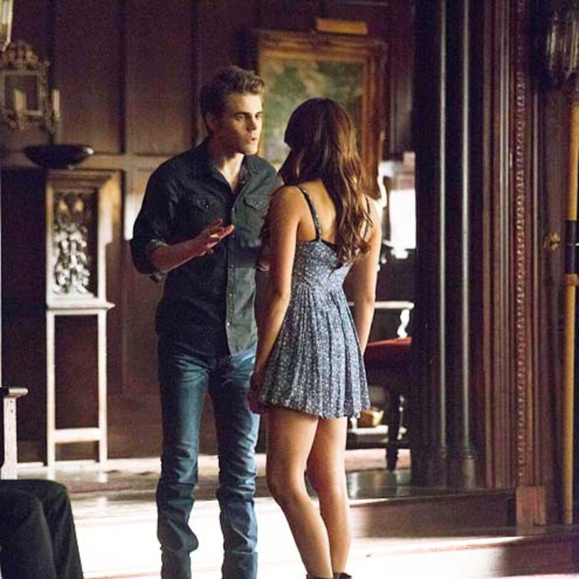 """The Vampire Diaries - Season 5 - """"Death and The Maiden"""" - Paul Wesley and Nina Dobrev"""