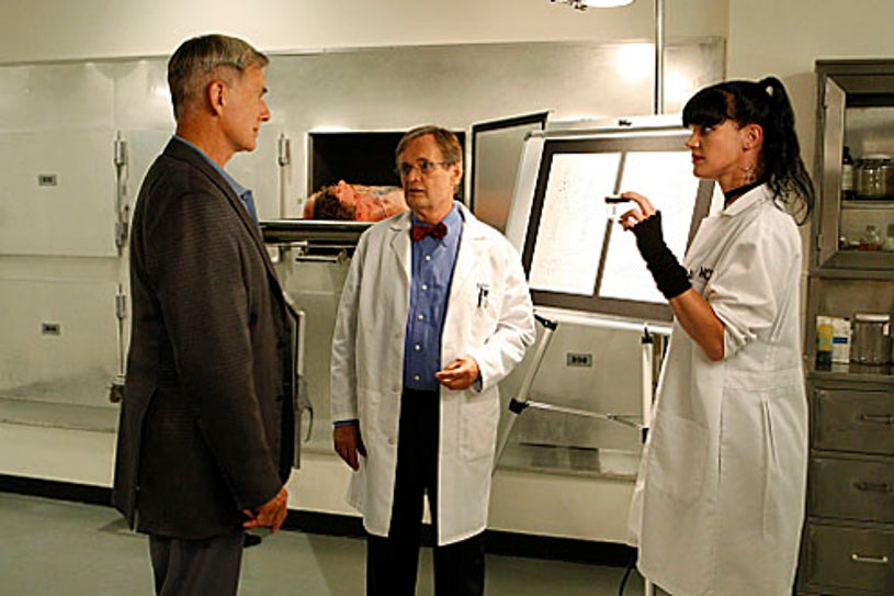 """NCIS - Season 7 - """"Outlaws and In-Laws"""" - Mark Harmon, David McCallum and Pauley Perrette"""