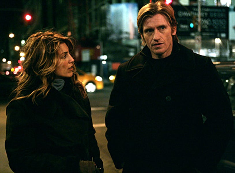 """Rescue Me - """"Commitment"""" - Jennifer Esposito as Nona, Denis Leary as Tommy Gavin"""