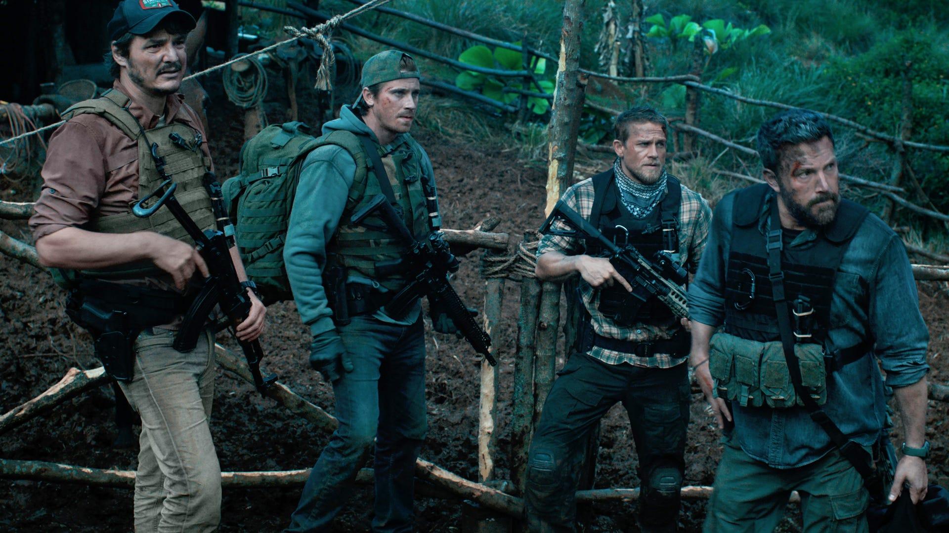Pedro Pascal, Oscar Isaac, Charlie Hunnam, Ben Affleck; Triple Frontier