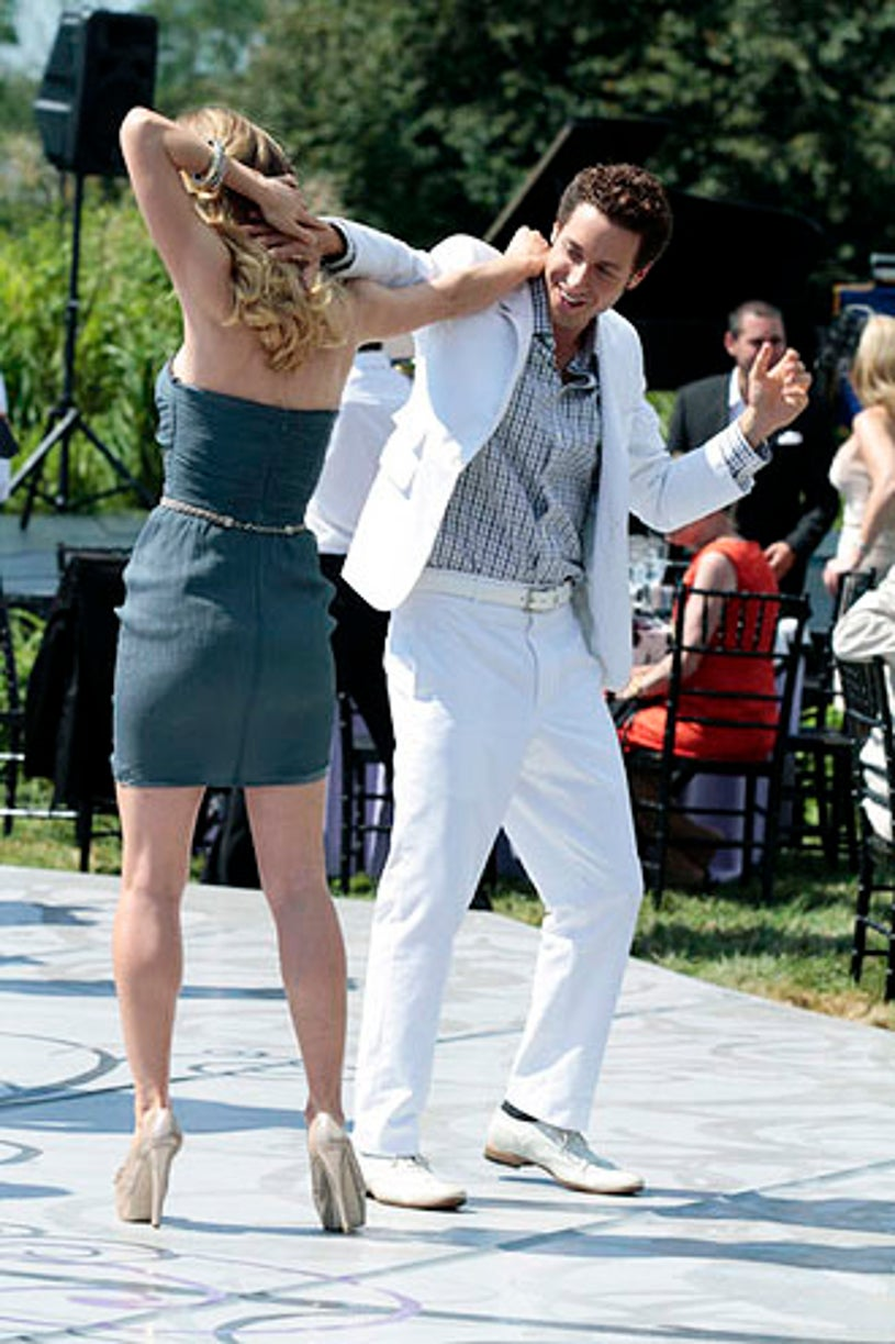 """Royal Pains - Season 3 - """"A Farewell to Barnes"""" - Brooke D'Orsay and Paulo Costanzo"""