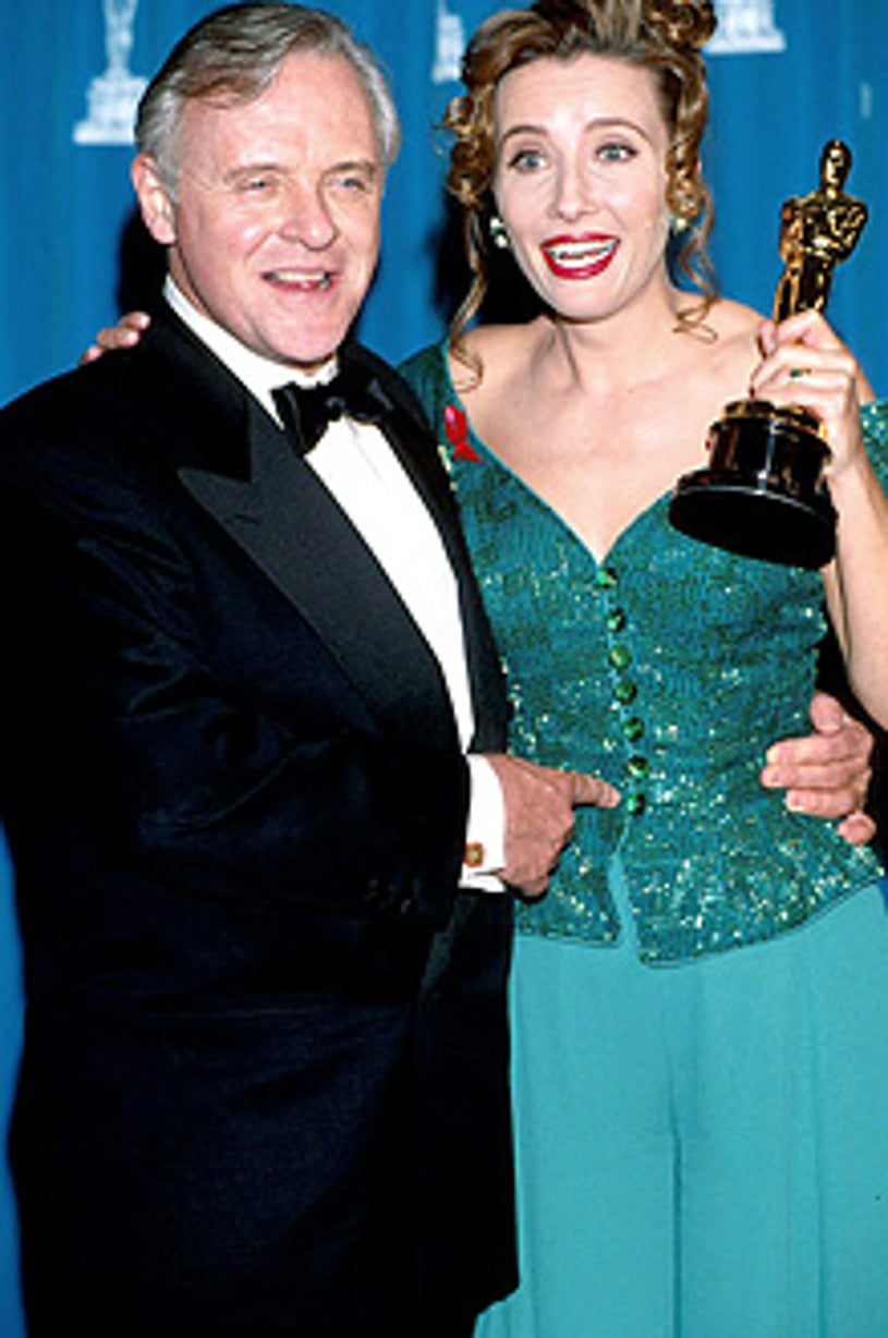 Anthony Hopkins and Emma Thompson - The 65th Annual Academy Awards, March 29, 1993