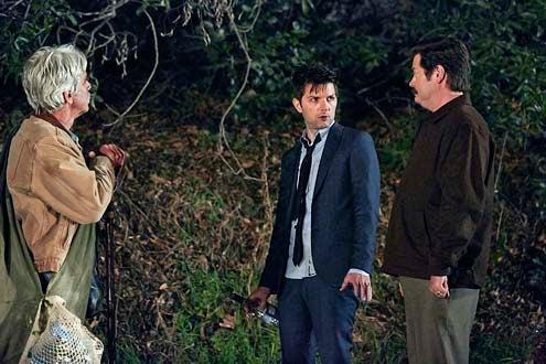 "Parks and Recreation - Season 6 - ""Flu Season 2"" - Sam Elliot, Adam Scott and Nick Offerman"