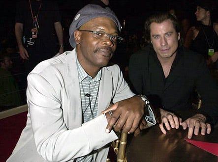 Samuel L. Jackson & John Travolta - 2001 MTV Movie Awards, June 2, 2001