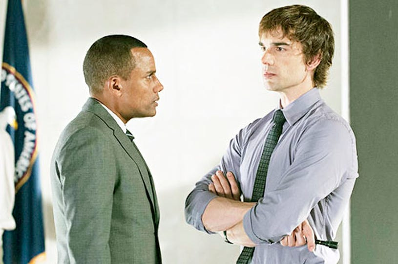 """Covert Affairs - Season 4 - """"Something Against You"""" - Hill Harper and Christopher Gorham"""
