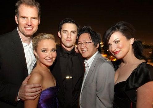 "Jack Coleman, Hayden Panettiere, Milo Ventimiglia and Masi Oka - ""Heroes"" 2007 Pre-Emmy Party, September 14, 2007"