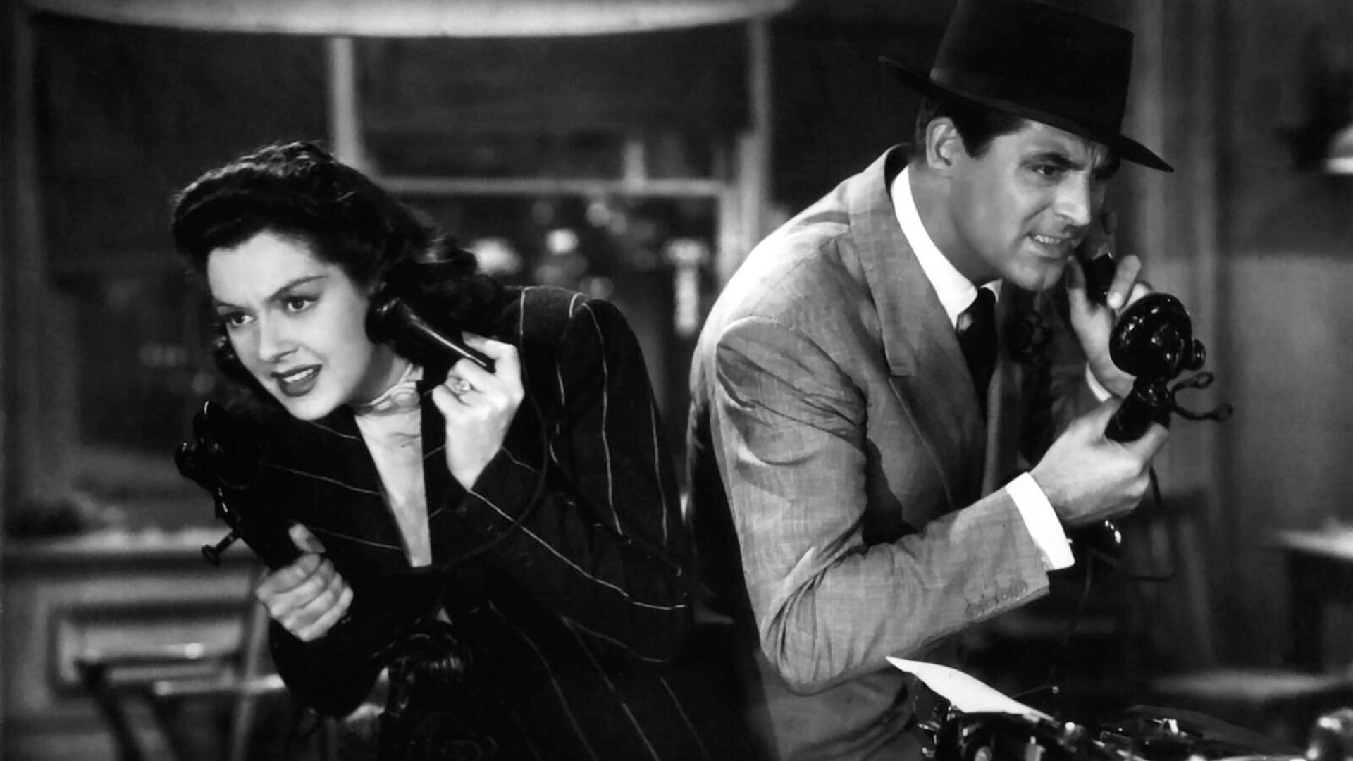 Rosalind Russell and Cary Grant, His Girl Friday