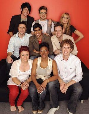 American Idol - Season 8 - Allison Iraheta, Lil Rounds, Scott MacIntyre, Kris Allen, Anoop Desai, Matt Giraud, Adam Lambert, Danny Gokey and Megan Joy