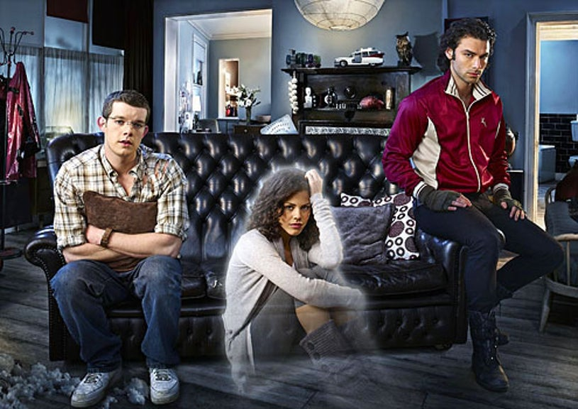 Being Human - Aidan Turner as Mitchell, Russell Tovey as George and Lenora Crichlow as Annie