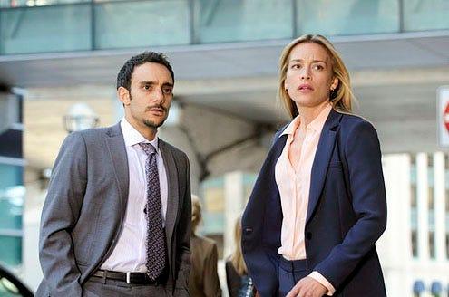"Covert Affairs - Season 3 - ""Hello Stranger"" - Omid Abtahi and Piper Perabo"