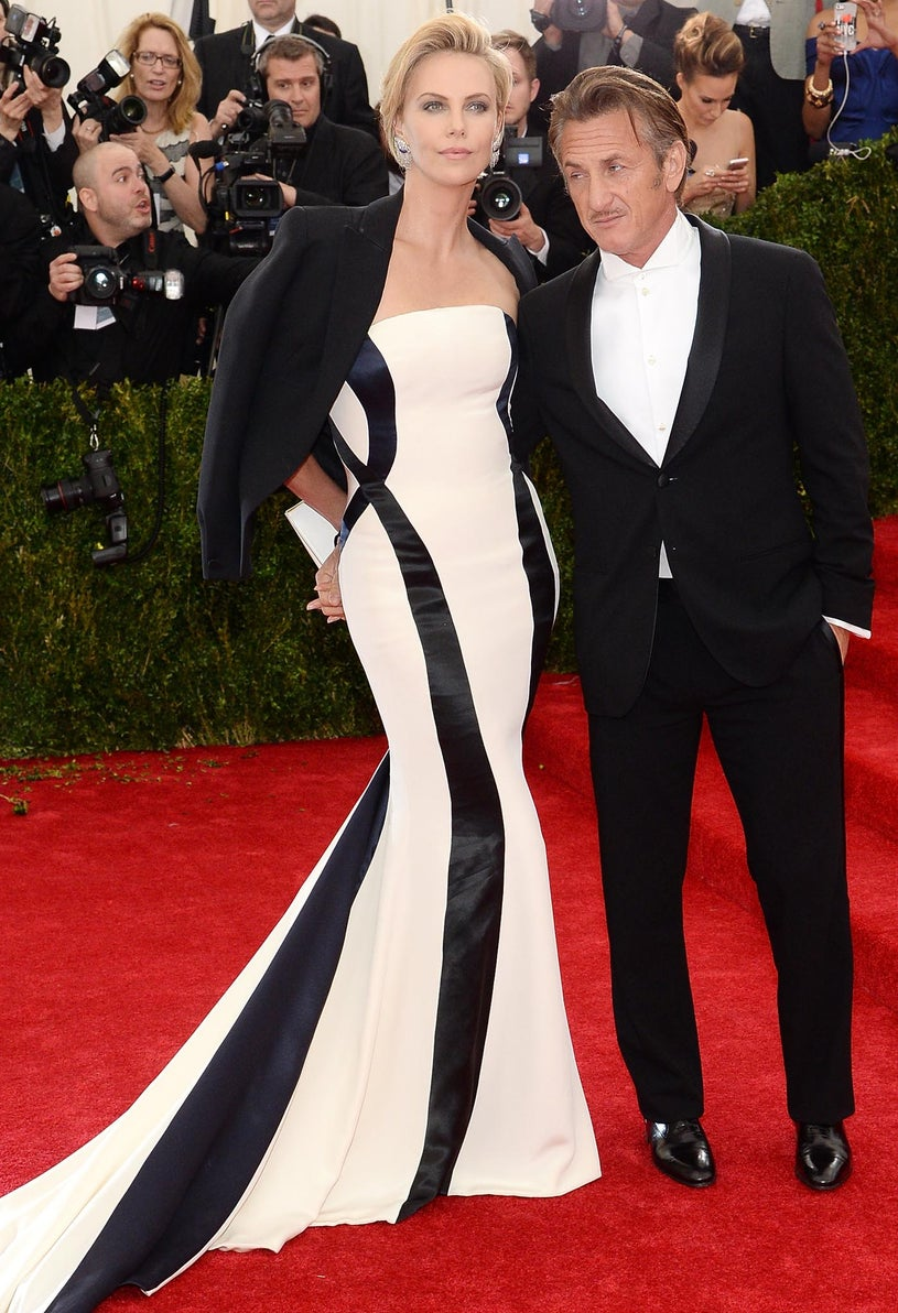 """Charlize Theron and Sean Penn - """"Charles James: Beyond Fashion"""" Costume Institute Gala at the Metropolitan Museum of Art in New York City, May 5, 2014"""
