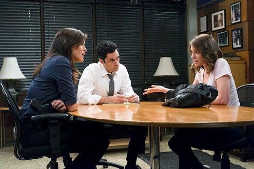 "Law & Order: Special Victims Unit - Season 14 "" Legitmate Rape"" -  Mariksa Hargitay, Danny Pino and Lauren Cohan"