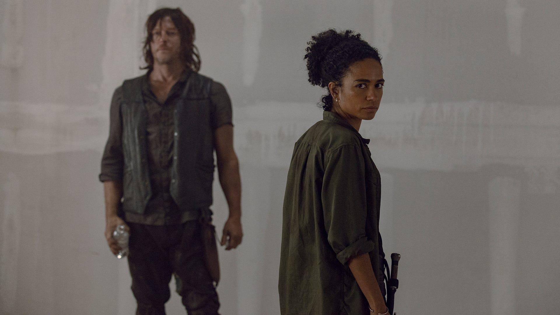 Norman Reedus and Lauren Ridloff, The Walking Dead