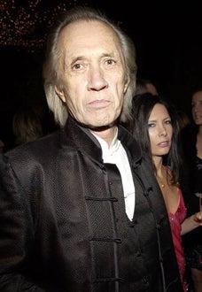 David Carradine and Annie Bierman - Golden Globe Awards, Miramax after party, Jan. 2003