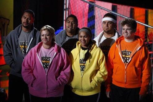The Biggest Loser - Season 9 - Sam Poueu, Ashley Johnston, Koli Palu, Sunshine Hampton, Mike Ventrella, Daris George