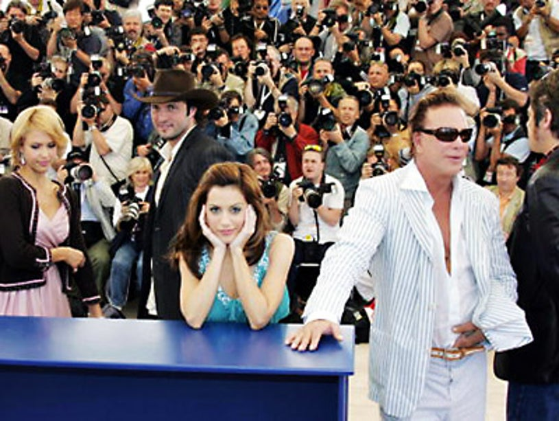 Jessica Alba, Robert Rodriguez, Brittany Murphy, and Mickey Rourke - Cannes Film Festival - May 18 2005