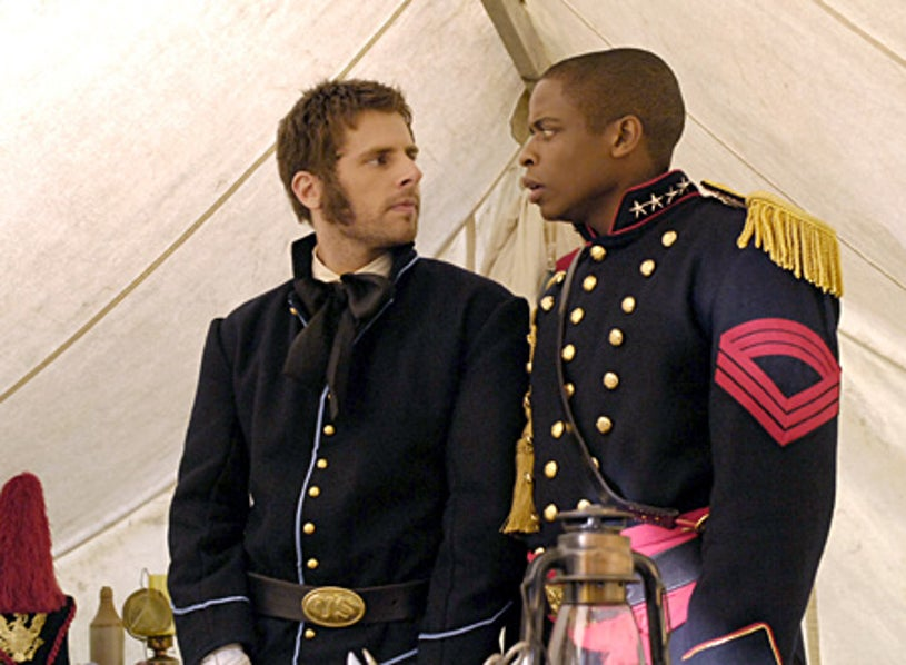 "PSYCH -""Weekend Warriors""- James Roday as Shawn Spencer, Dule Hill as Burton 'Gus' Guster"