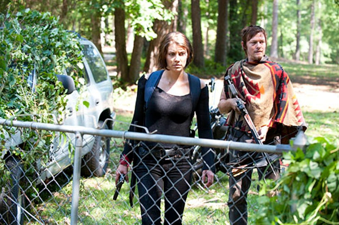 "The Walking Dead - Season 3 - ""Say the Word"" - Lauren Cohan and Norman Reedus"