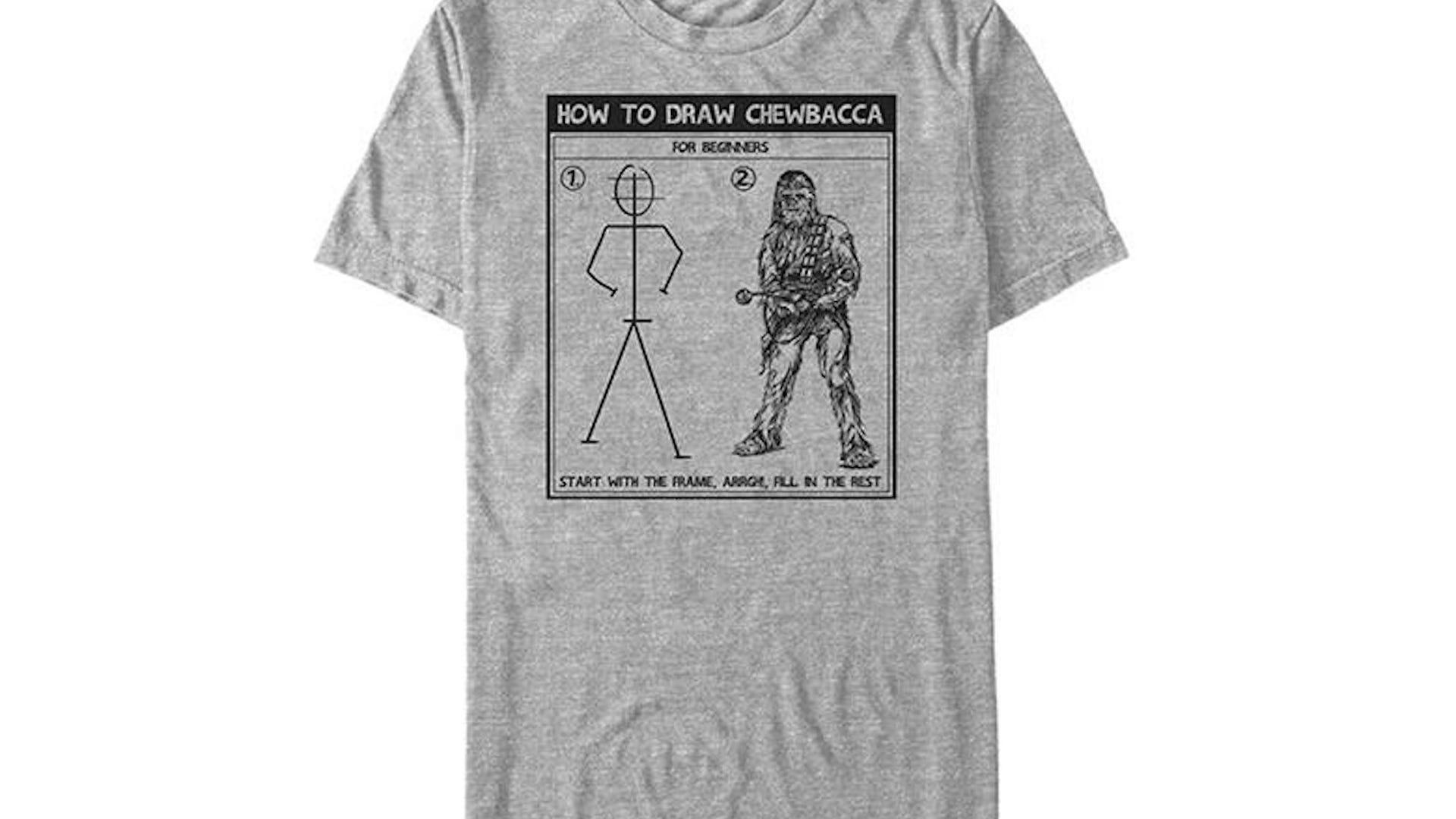 How To Draw Chewbacca shirt