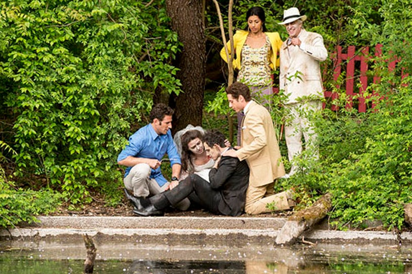 """Royal Pains - Season 4 - """"Dawn of the Med"""" - Mark Feuerstein, Katie Lowes, Santino Fontana, Paulo Costanzo, Reshma Shetty and Henry Winkler"""