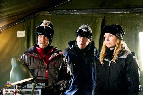 "Leverage - Season 4 - The Long Way Down Job"" - Christian Kane, Timothy Hutton and Beth Riesgraf"