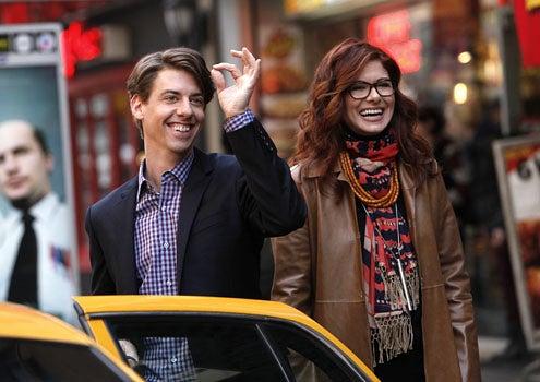 "Smash - Season 1 - ""Pilot"" - Christian Borle as Tom and Debra Messing as Julia"