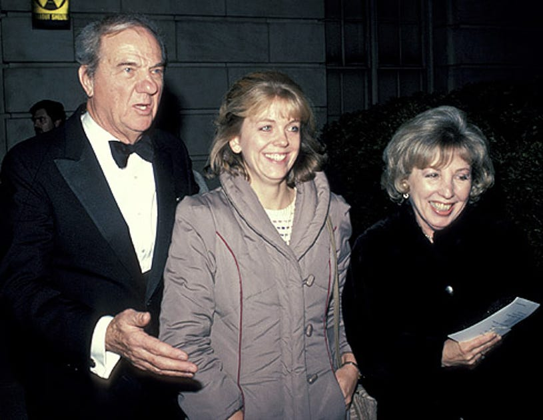 Karl Malden, daughter and wife Mona Greenberg - Kennedy Center honors Arthur Miller, Washington DC, December 2, 1984