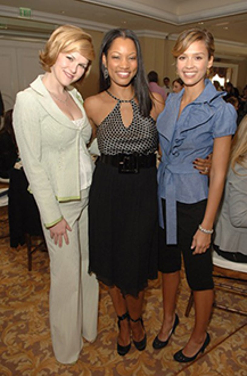 Sara Rue, Garcelle Beauvais and Jessica Alba - In Style Magazine's Diamond Fashion show, January 12, 2006