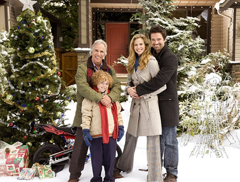 The Most Wonderful Time of the Year - Henry Winkler as Uncle Ralph, Connor Levins as Brian, Brooke Burns as Jennifer and Warren Christie as Morgan