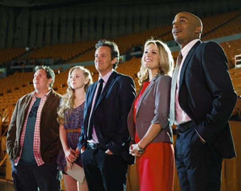 """Mr. Sunshine - Season 1 - """"Crystal on Ice"""" - Nate Torrence, Portia Doubleday, Matthew Perry, Andrea Anders, James Lesure"""