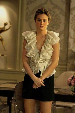 """Gossip Girl - Season 2, """"Bonfire of the Vanity"""" - Leighton Meester as Blair Waldorf"""