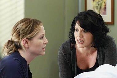 "Grey's Anatomy - Season 7 - ""Song Beneth the Song"" - Jessica Capshaw, Sara Ramirez"