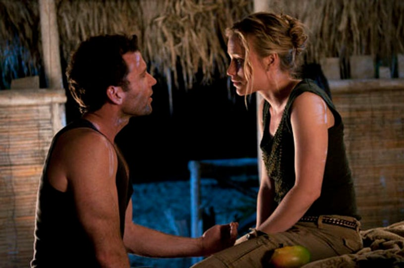 """Covert Affairs - Season 1 - """"When the Levee Breaks"""" -  Piper Perabo as Annie Walker and Eion Bailey as Ben Mercer"""