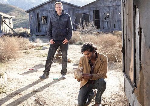 """Heroes - Season 3 - """"1961"""" - Jack Coleman as H.R.G. and Sendhil Ramamurthy as Mohinder Suresh"""