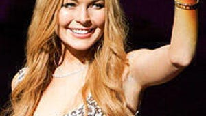 Glee First Look: Lindsay Lohan Judges Nationals, New Directions Does a Body Switch