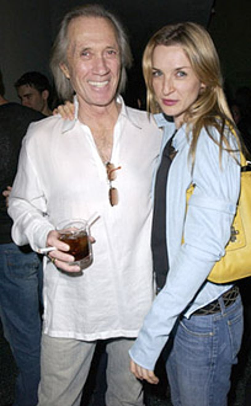 David Carradine and Ever Carradine - Details Magazine party, March 14, 2003