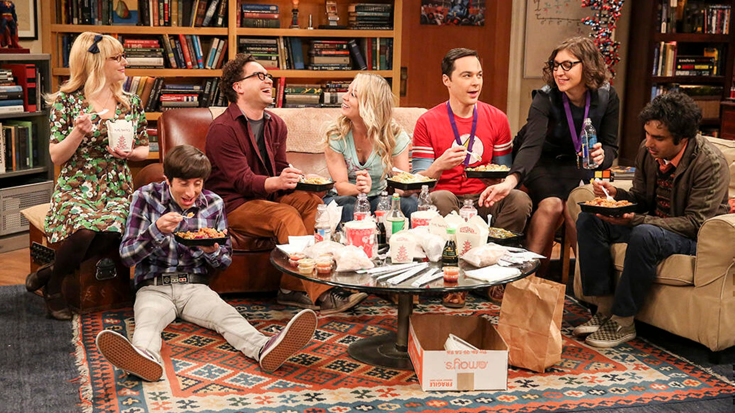 Melissa Rauch, Simon Helberg, Johnny Galecki, Kaley Cuoco, Jim Parsons, Mayim Bialik and Kunal Nayyar, The Big Bang Theory