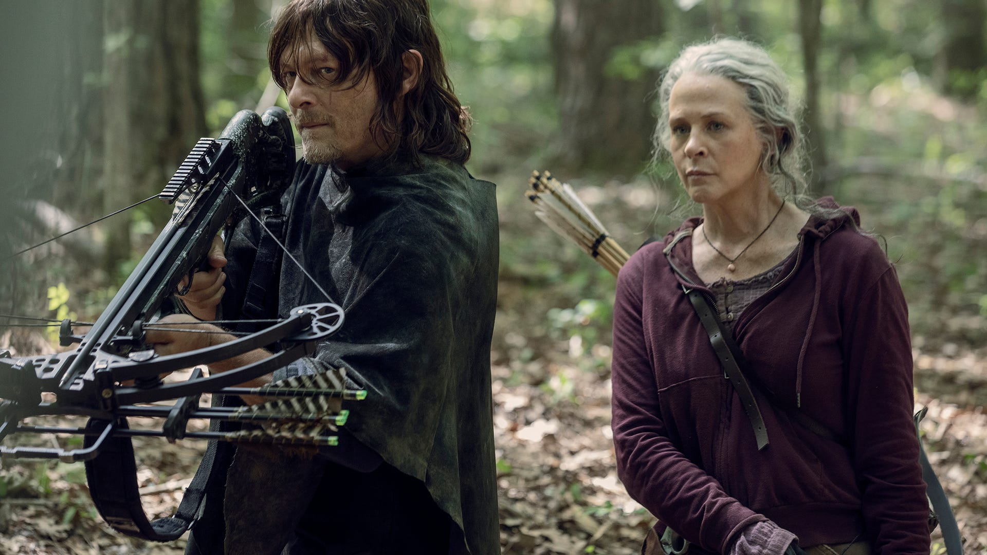 Norman Reedus and Melissa McBride, The Walking Dead