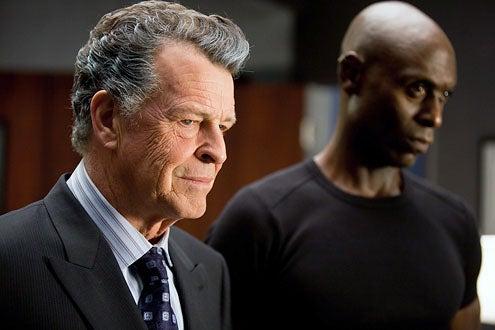 "Fringe - Season 3 - ""The Plateau"" - John Noble as Walter Bishop and Lance Reddick as Phillip Broyles"